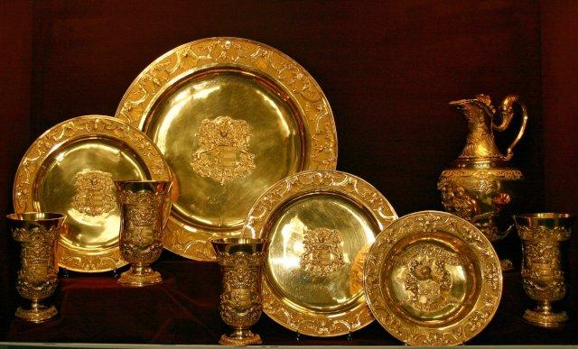 Gouden avondmaal- en doopstel